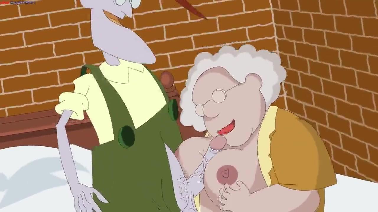 cartoon fat granny porn