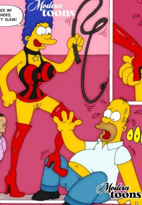 simpsons bdsm sex toon